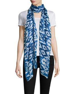 Ikat Cashmere-silk Scarf