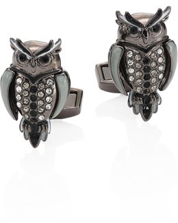 Mechanimals Owl Design Cufflinks