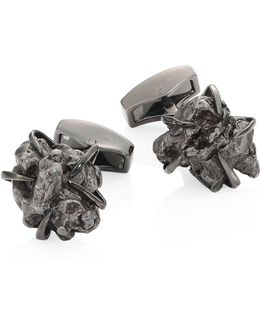Campo Del Cielo Rhodium-plated Cuff Links