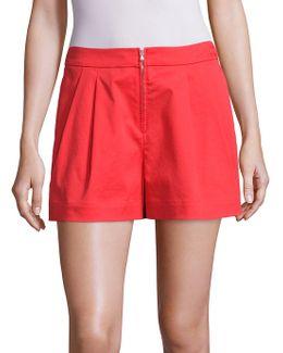 Zip-front Shorts