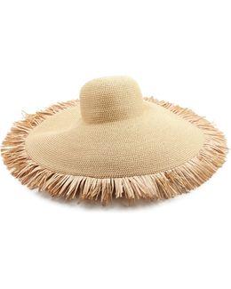 Floppy Fringe Straw Sun Hat