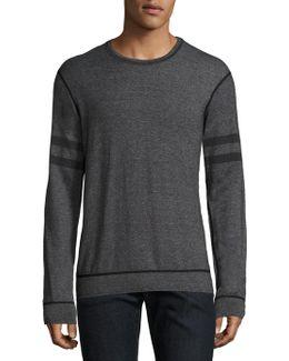 Striped Heathered Sweatshirt