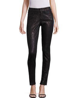 Alina Lace-print Legging Jeans