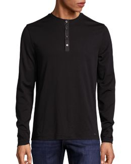 Slim-fit Henley Tee
