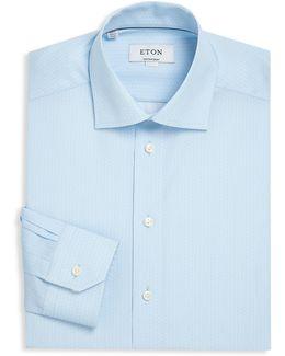 Contemporary-fit Printed Dress Shirt
