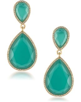Vibrant Vibes Double-drop Crystal Earrings
