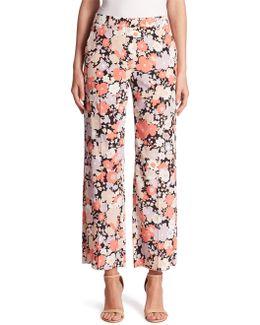 Floral Silk Pants