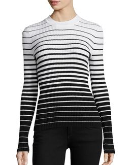 Degrade Stripe Pullover