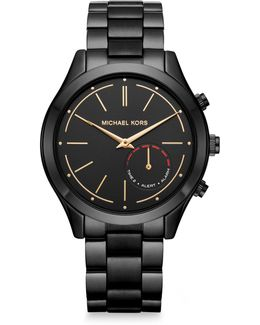 Access Slim Runway Black Ip Stainless Steel Hybrid Smartwatch