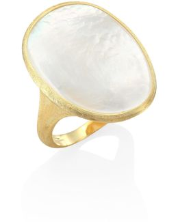 Lunaria Mother-of-pearl & 18k Yellow Gold Ring