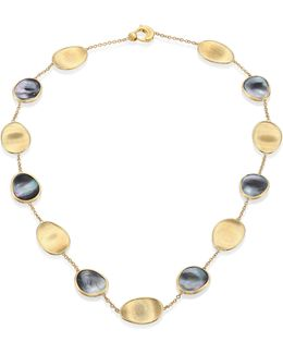 Lunaria Black Mother-of-pearl & 18k Yellow Gold Necklace
