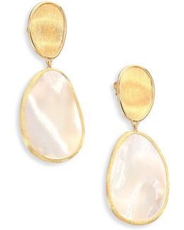 Lunaria Mother-of-pearl & 18k Yellow Gold Drop Earrings