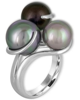 9-12mm Organic Pearl & Sterling Silver Ring