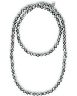 Endless 8mm Organic Pearl Strand Necklace/48