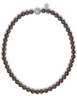 8mm Tahitian Pearl & Crystal Strand Necklace