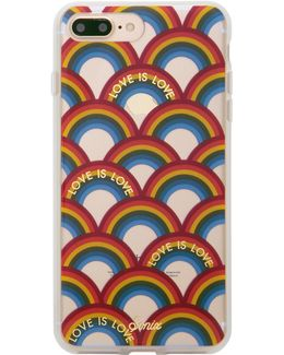 Love Is Love Rainbow Printed Iphone 7 Plus Case