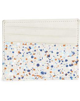 Pollock Effect Leather Cardholder