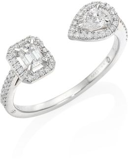 My Twin Toi & Moi Small Diamond & 18k White Gold Ring