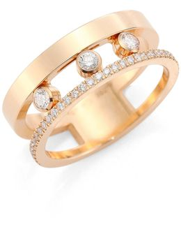 Move Romane Diamond & 18k Rose Gold Ring