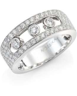 Move Joaillerie Pave Diamond & 18k White Gold Ring