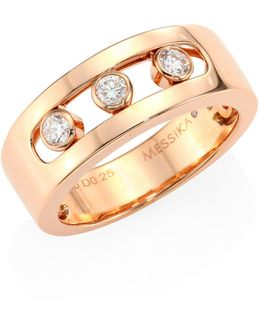 Move Joaillerie Diamond & 18k Rose Gold Ring