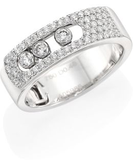 Move Noa Pave Diamond & 18k White Gold Ring