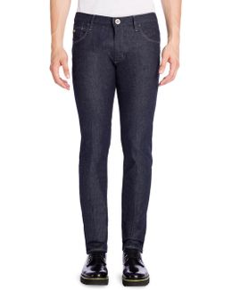 Textured Slim Fit Jeans