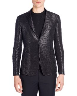 Giacca Jacquard Pattern Jacket