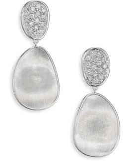 Lunaria Small Diamond & 18k White Gold Double-drop Earrings