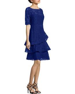 Lace Tiered Ruffle Dress
