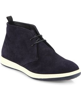 Perforated Lace-up Chukka Boots