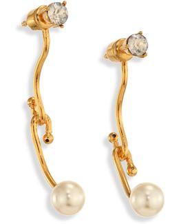 Monroe Crystal & Faux Pearl Earrings