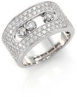 Move Diamond & 18k White Gold Ring
