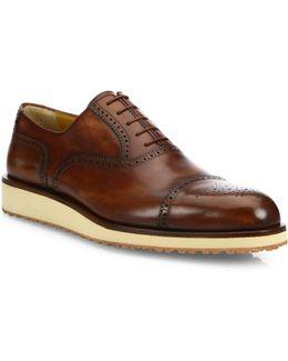 Brogue Delave Leather Oxfords