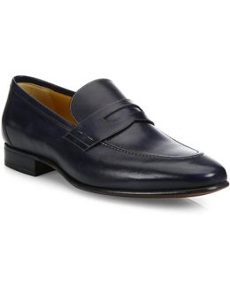Penny Slip-on Leather Loafers