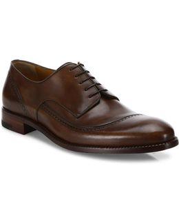 Black Label Antiqued Cacao Delave Calf Derby Shoes