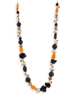 Elements Mosaic Futurist Beaded Strand Necklace