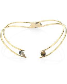 Elements Mosaic Futurist Hinged Collar Necklace