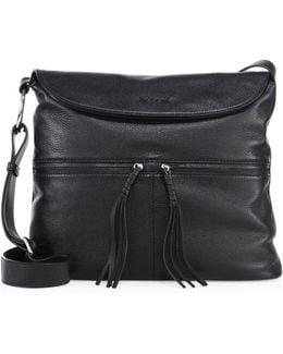 Cynnie Flap Leather Crossbody Bag
