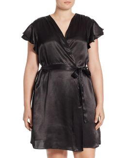 Plus Sateen Flutter Robe
