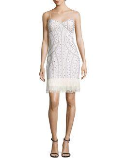 Beaded Fringe Hem Dress