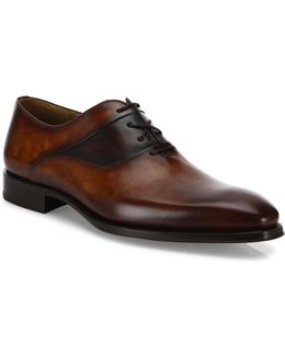 Saks Fifth Avenue By Magnanni Leather Oxfords