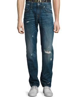 Geno Worn Mystic Straight-fit Jeans