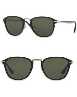 Calligrapher 52mm Polarized Square Sunglasses