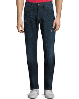 Geno Straight-fit Distressed Jeans