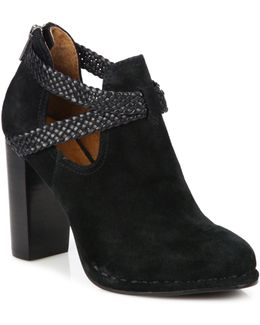 Margaret Braid Suede & Leather Booties