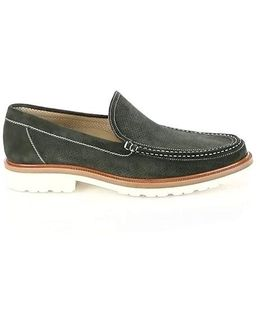 Perforated Moc-toe Loafers