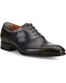 Carter Multicolor Brogue Leather Oxfords