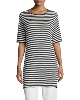 Striped Organic Linen Tunic