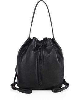 Finley Sling Leather Bucket Bag